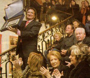 Lionel Grau Mullor (Alcoi, 1937-2016) en el concert de cloenda del 175 aniversari de La Primitiva