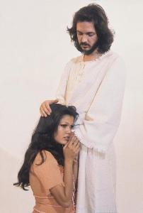 <small<Ángela Carrasco y Camilo Sesto como María Magdalena y Jesucristo