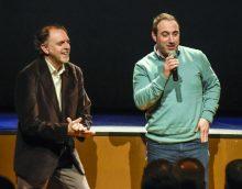 Moisés Olcina i Rubén Priego en la seua intervenció