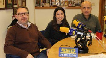 Eduard terol, Duna Valor i Pablo Martínez a Ràdio Alcoi