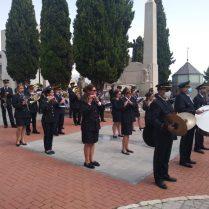 Un moment de la cerimònia fúnebre en homenatge a Sergio Molina (Foto: Pepi Pascual)